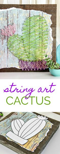 We decided to bring a little beauty indoors with a handmade cactus string art piece to hang on the walls, inspired by a recent family hiking trip!