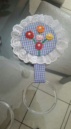 FEIRA Cd Crafts, Towel Crafts, Sewing Crafts, Diy And Crafts, Sewing Projects, Projects To Try, Arts And Crafts, Crochet Towel, Crochet Motif
