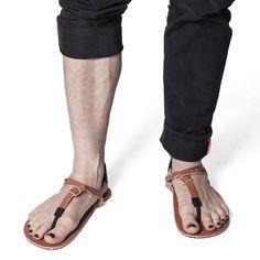 Men Nail Polish, Toe Polish, Men Sandals, Leather Sandals, Polished Toes, Mens Nails, Male Feet, Toenails, Birkenstock Mayari