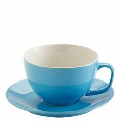 Price & Kensington Bright Blue Cappuccino Cup & Saucer 15oz / 44cl