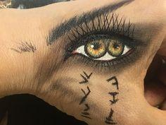 #makeup #eye makeup #the mummy #mummy #Tom cruise #makeuponthehand
