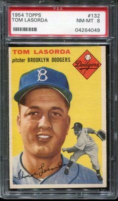 1954 Topps Tom Tommy Lasorda Brooklyn Dodgers Rc Psa 3 Vg Very Good Rookie Play Baseball Games, Baseball Boys, Better Baseball, Dodgers Baseball, Baseball Photos, Football, Mlb, Don Drysdale, Famous Baseball Players