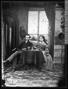 Unidentified Montreal, Qc. couple 1861.