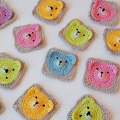 Teddy Bear Granny Square - Tutorial (Crochet For Children)
