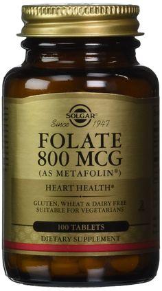 Solgar Folate 800 mcg (as Metafolin)- 100 Tablets