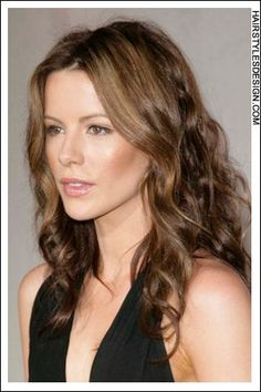 Kate Beckinsale has a cute head of hair. Her hair is long and curly, not to mention, healthy looking as well. This hairstyle frames her face beautifully.Kates haircut is long.The hair colour is brown with lighter highlights. Hair Color And Cut, Cut My Hair, New Hair, Hairstyles Haircuts, Cool Hairstyles, Haircut For Square Face, Medium Hair Styles, Long Hair Styles, Short Haircut Styles