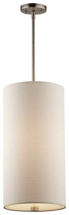 "10"" Taylor Grass Cloth/Glass Cylindrical Pendant Shade"