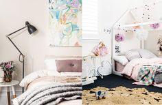 """I decided to introduce more of a monochrome, Scandinavian style with softer shades of grey, dusty pinks, black and of course lots of white and natural Big Girl Rooms, Scandinavian Style, Your Space, House Tours, Toddler Bed, Bedroom Interiors, Design Inspiration, Open Spaces, Beds"