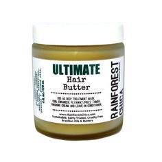 Ultimate Hair Butter - Deep treatment, leave-in, natural hair, curls, chemically treated hair - Rainforest Chica - 1 Best Natural Hair Products, Natural Haircare, Natural Hair Tips, Natural Hair Styles, Natural Oils, Natural Beauty, Leave In, Black Hair Care, Hair Rinse