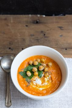 Carrot Soup Recipe for mom and dad, using left over carrots that have been puréed for baby.