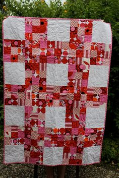 Great pattern idea for my charm squares