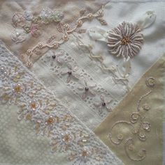 I ❤ crazy quilting, beading & embroidery . . . CQI Tone on Tone DYB RR - Rita's block ~By dianem
