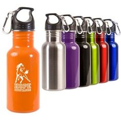 $4.79 each / 50 piece minimum, price includes a one-color imprint. Promotional Products Advertising Specialties Promo Items Tradeshow GiveAways Corporate Gifts - 17 oz. Stainless Adventure Bottle - MG901 - www.InstantPromos.com - 888-259-9668