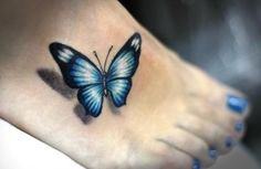 I simply love-love-loooove this tattoo! the butterfly seems to be flying
