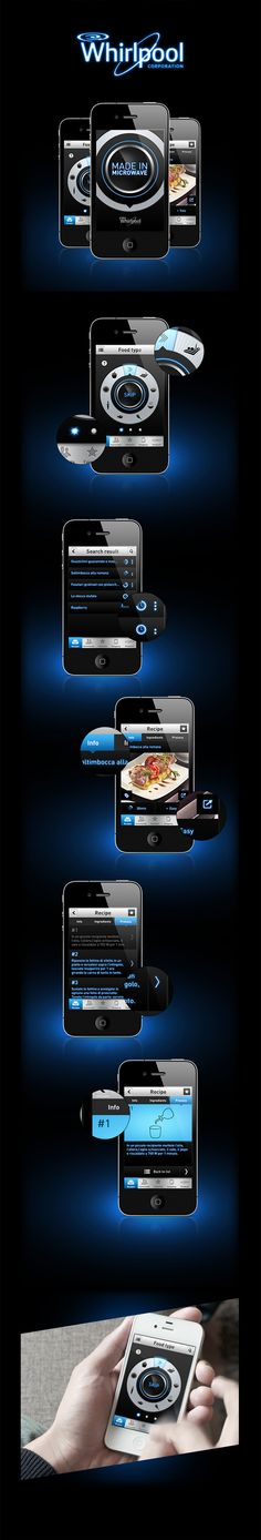 Made in Microwave - Whirlpool App by Santi Urso, via Behance *** Proposal design for the Whirlpool Cookbook App