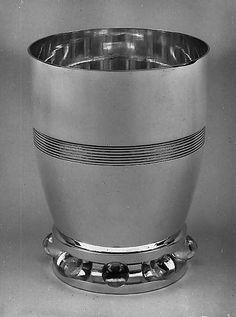 Beaker Jean E. Puiforcat (French, Paris 1897–1945 Paris) Date: 1934 Medium: Silver, glass