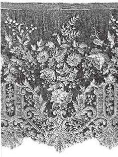 Alencon lace needle point Snowflake Quilt, Types Of Lace, French History, Needle Lace, French Lace, French Antiques, Needlepoint, Design Elements, Lace Trim