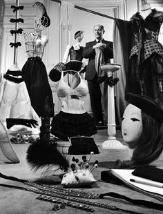 Designer Christian Dior in his Paris salon, 1948.