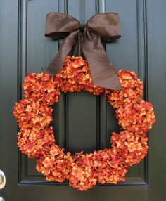 Wreath Orange Pumpkins Pumpkin Patch Fall Wreaths by twoinspireyou