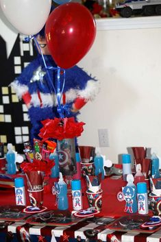 Captain America Birthday Party Ideas | Photo 7 of 18 | Catch My Party