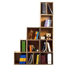 Estantería de cartón. Resistente, ligera y reciclable. Montaje 5 minutos. Diseñada por CartonLAB. Fabricada con materiales certificados.Spanish Ecodesign.