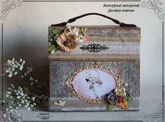 """Купить Альбом для фото """"Винтажный чемоданчик. Дамское счастье"""" - фотоальбом ручной работы, альбом для фотографий"""