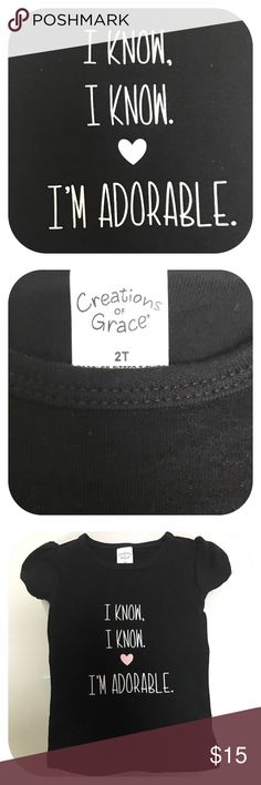Adorable Toddler Fitted Tee New custom designed toddler fitted tee Creations  by Grace brand. Boutique Shirts & Tops Tees - Short Sleeve