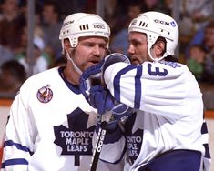 Wendel Clark and Doug Gilmour, Toronto Maple Leafs Hockey Logos, Hockey Players, Hockey Baby, Ice Hockey, Toronto Maple Leafs, Maple Leafs Hockey, Sports Website, Nhl Games, Sport Icon