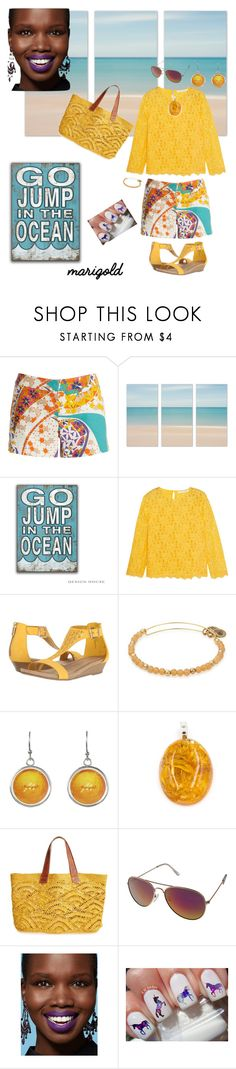 """""""Fort Lauderdale"""" by scope-stilettos ❤ liked on Polyvore featuring Trina Turk, Diane Von Furstenberg, Kenneth Cole Reaction, Alex and Ani and Mar y Sol"""