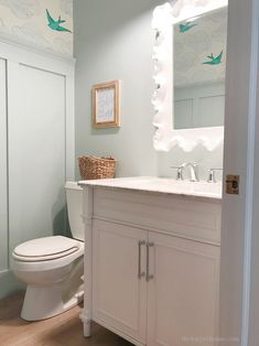 Find out where to buy this bathroom vanity for half the price of custom vanities! Get the look for less and save money with budget friendly bathroom design ideas. Bathroom Vanity Store, Small Bathroom Vanities, Bathroom Cabinets, Master Bathroom, Bathroom Ideas, Budget Bathroom, Bath Ideas, Bathroom Organization, Armoire