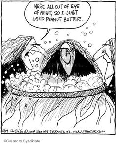 Strange Brew by John Deering Laugh Cartoon, Cartoon Jokes, Halloween Cartoons, Scary Halloween, Halloween Humor, Samhain, Witches Night Out, Season Of The Witch, Witch Art