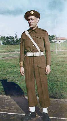 Colourised version of Bill in Duisberg, 1945. See the website to hear or read the story behind the photo