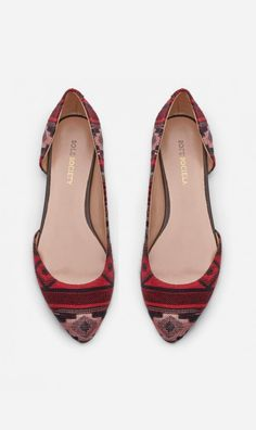 D'orsay flats - Anni - Red Multi Fudge