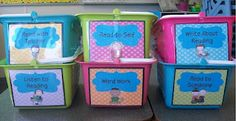 Literacy Centres tubs with DIY ideas and instructions for how to create your own
