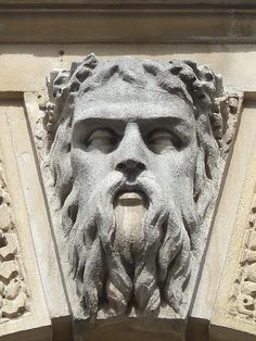 Sculptural detail on top of a building at the uppermost end of Mildsom Street, Bath, UK.