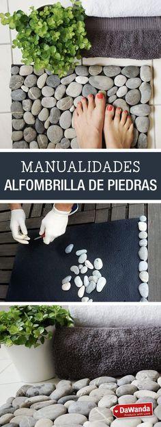 Tutorial DIY - CÓMO HACER UNA ALFOMBRILLA DE PIEDRAS