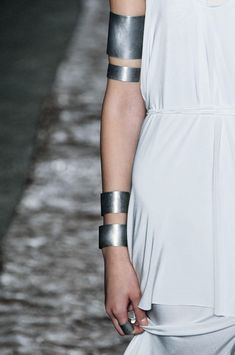 Banded Arm Cuffs - bold simplicity, statement jewellery; silver arm adornment // Kimberly Ovitz