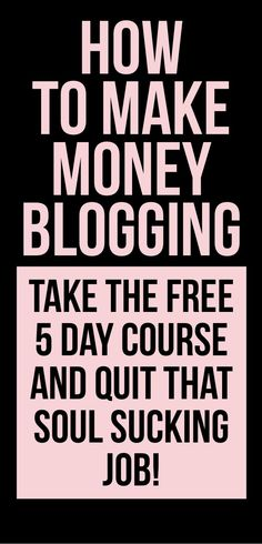 Blogging is a great way to make money from home. This course will teach you how to get started! #makemoneyblogging #makemoneyfromhome #smallbusiness