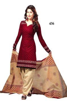THAYARI.COM - Red In New Designer Dress Material