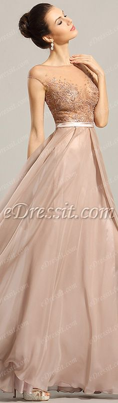 eDressit Cap Sleeved Embroidery Evening Gown Prom Dress