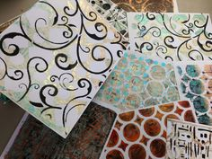 Gelli prints everywhere!!!    www.inkyobsessions.blogspot.com