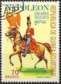Stamp: Officer of the Imperial Guard Cavalry (Equatorial Guinea) (Napoleonic Military Uniforms) Mi:GQ 1196,Sn:GQ 77-113,Yt:GQ PA94B