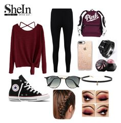 """""""Fall is coming🍁"""" by kenzie4ever11 on Polyvore featuring Boohoo, Converse, Ray-Ban, Carbon & Hyde and Casetify"""