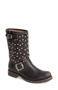 These Frye studded moto boots are the perfect way to add some edge to any look this fall.