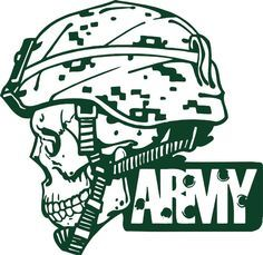 Army Military Police Soldier Skull Camo Car Truck Window Vinyl Decal Sticker #Oracal