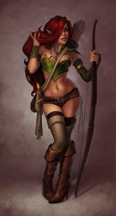 """Elf Pinup"" by Jessica Oyhenart-Ball (JessiBean) | #Fantasy"