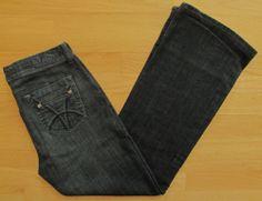 """KUT from the Kloth jeans Bootcut Dark Indigo wash Stretch Denim sz 10 30"""" Short"""