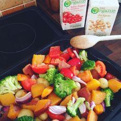 honey roast garden veg chickpeas tomato easy bake - lylia rose uk food blog