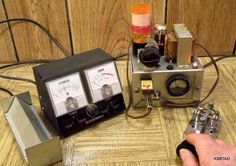 6SN7 QRP Transmitter in Action