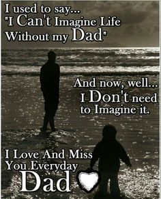 When you loose your dad it leaves a hole in your heart. Missing My Dad Quotes, Missing Dad In Heaven, Fathers Day In Heaven, Missing Daddy, Missing Loved Ones, Rip Daddy, Daddy I Miss You, Love You Dad, I Miss Him
